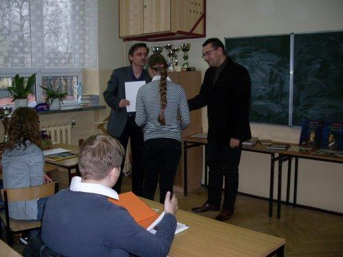 Fotografie z artykułu: Ola laureatką Konkursu Historycznego