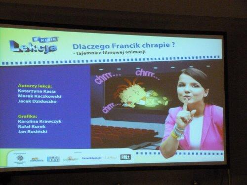 Fotografie z artykułu: 'Dlaczego Francik chrapie?' - uczniowie odkrywają tajemnicę