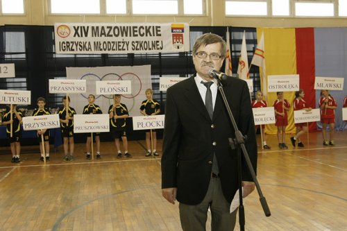 Fotografie z artykułu: XIV Mazowieckie Igrzyska Młodzieży Szkolnej uroczyście zamknięto w naszej szkole!