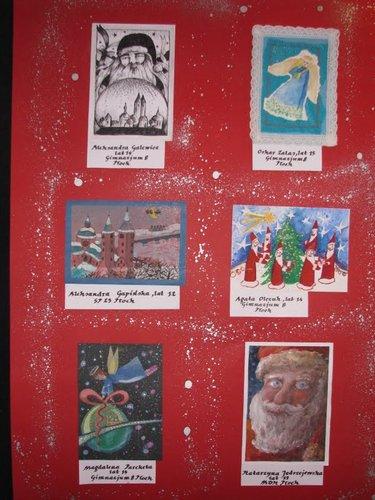Fotografie z artykułu: Laureatka Miejskiego Konkursu na 'Najładniejszą kartkę świąteczną'.