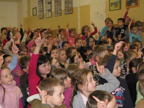 Fotografie z artykułu: Przedszkolaki w szkole