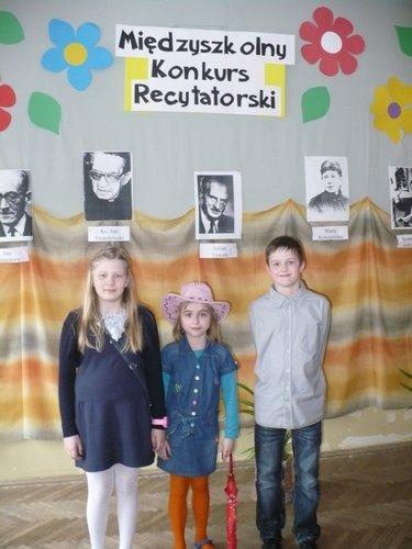 Fotografie z artykułu: Konkurs Recytatorski dla dzieci z klas I – III