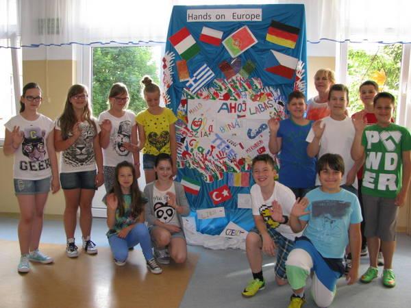 Fotografie z artykułu: SP23 w E-Twinning czyli 'Hands on Europe'