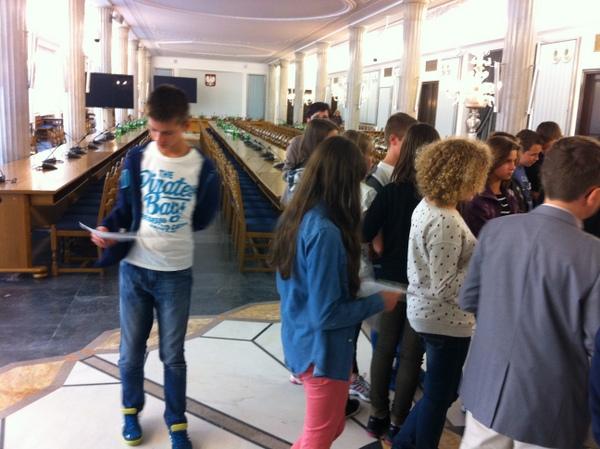 Fotografie z artykułu: Z wizytą w Sejmie