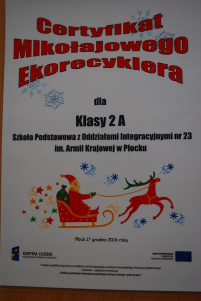 Fotografie z artykułu: Mikołajowy Ekorecykler