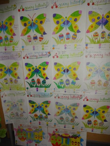 Fotografie z artykułu: Happy Easter - prezentacja prac uczniów wykonanych na świątecznych lekcjach języka angielskiego.