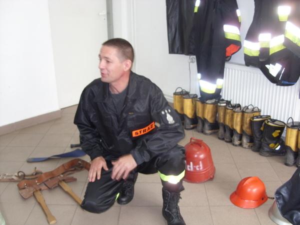 Fotografie z artykułu: IIIa z wizytą w OSP w Płocku - Trzepowie