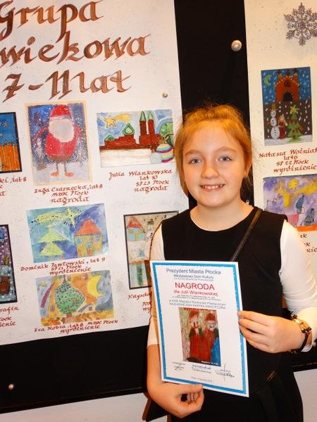 Fotografie z artykułu: Najpiękniejsze kartki świąteczne z naszej szkoły wśród nagrodzonych!