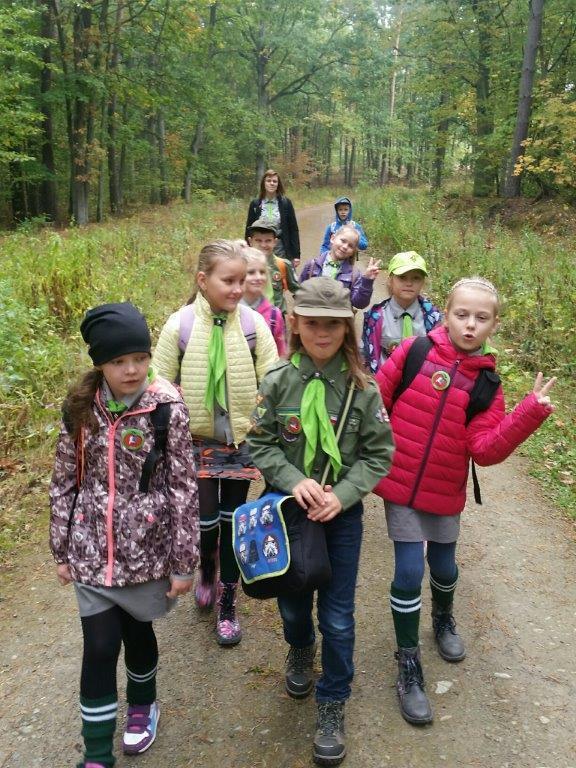 Fotografie z artykułu: Leśne wędrówki zuchów.