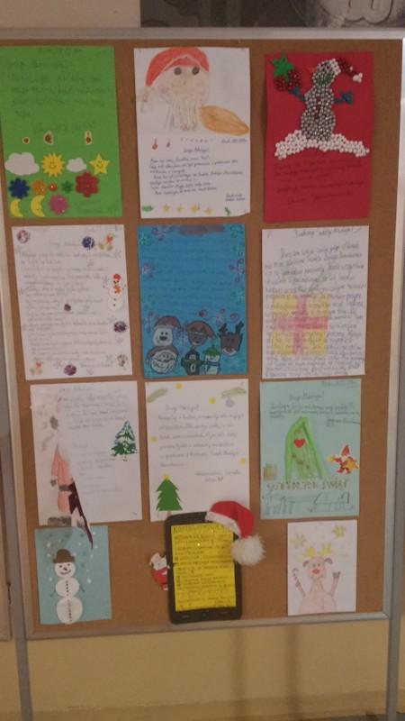 Fotografie z artykułu: List do Świętego Mikołaja - projekt klas III