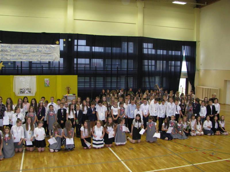 Fotografie z artykułu: Uroczyste zakończenie roku szkolnego 2016/17
