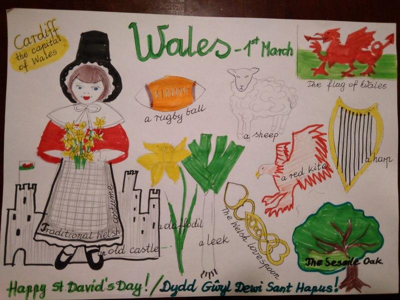 Fotografie z artykułu: St David's Day in Wales ( 1st March )  – Dzień Świętego Dawida, patrona Walii, 1 marca