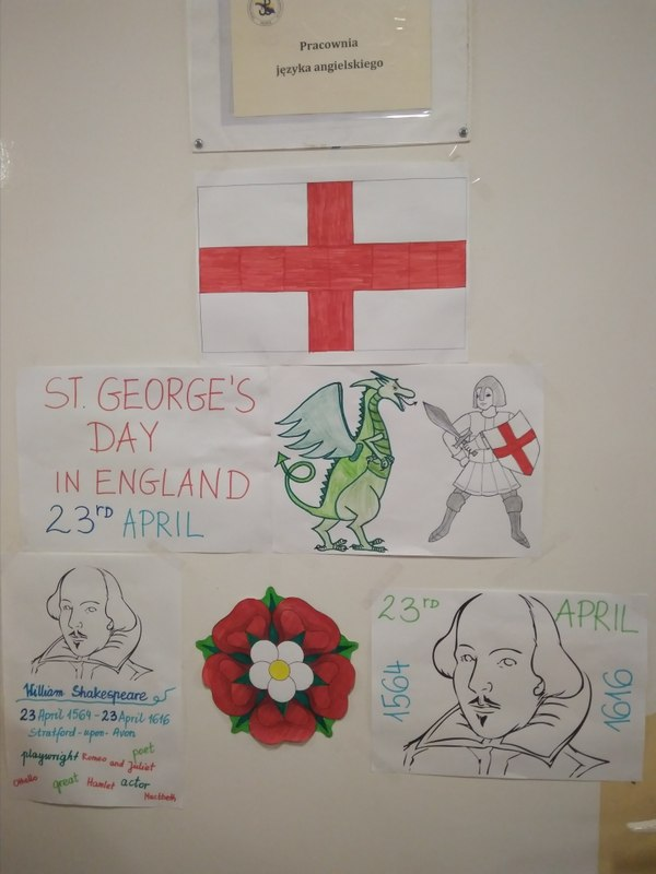Fotografie z artykułu: St George's Day and National Shakespeare Day in England (23 April) – Dzień Świętego Jerzego, patrona Anglii i Narodowy Dzień Williama Szekspira