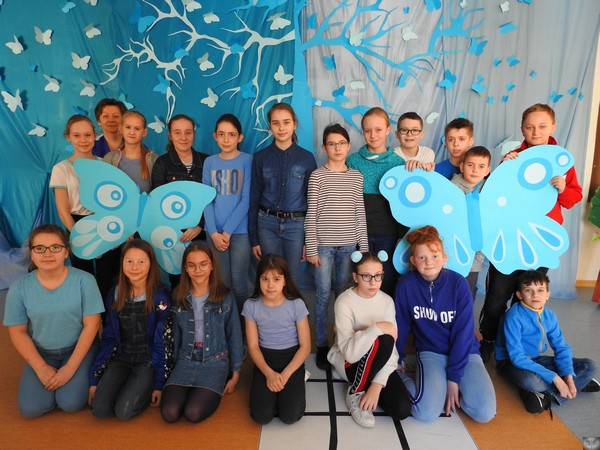 Fotografie z artykułu: SP 23 na niebiesko!